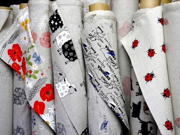 Linen fabric 55% linen patterned