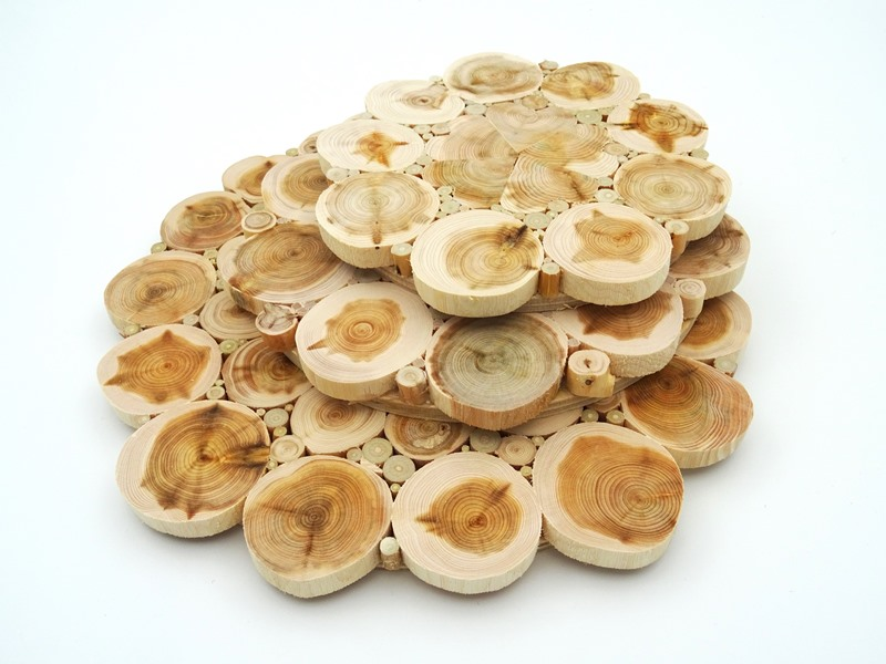Juniper wood heat resistant board flower