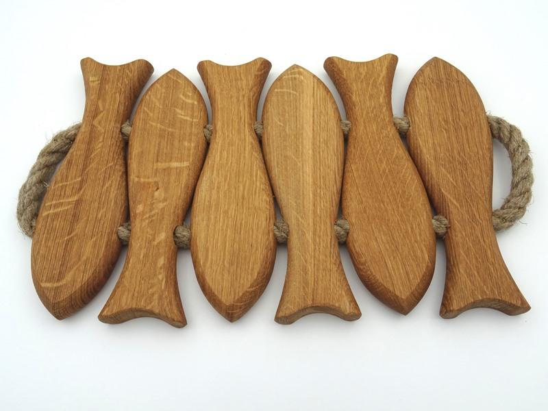 Oak heat resistant board six fish 1