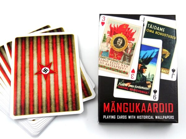 Playing cards with historical posters