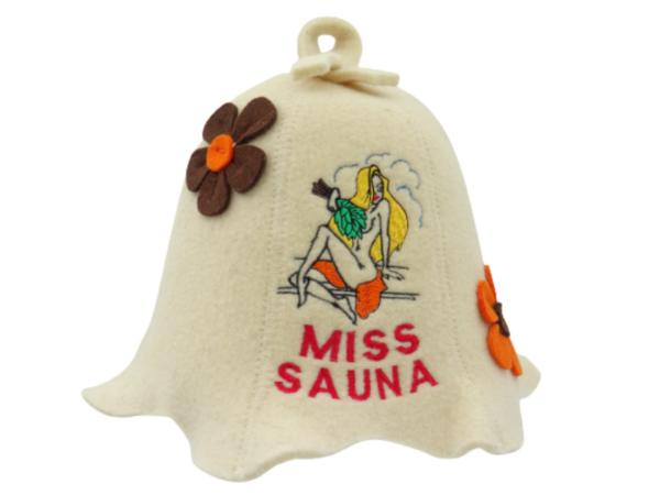 Saunamüts Miss Sauna lilledega beez 1027