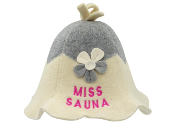 Sauna hat Miss with flower 1023