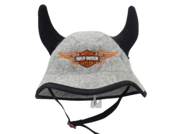Saunamüts kiiver sarvedega Harley 1130