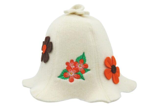 women's sauna hat white A1185