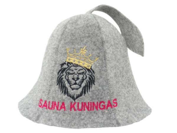 Sauna hat Lion Sauna Kuningas gray M018