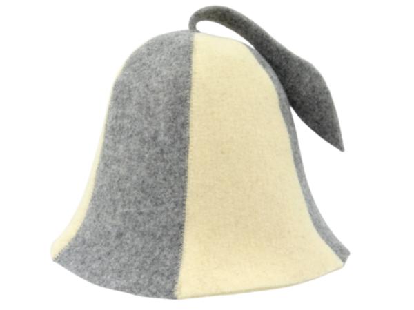 Men's sauna hat gray beige M013
