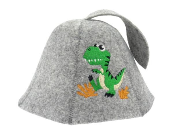 Sauna hat for children Dragon green gray