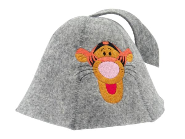 Sauna hat for children Tiger orange gray