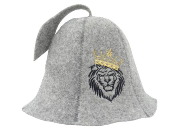 Sauna hat Lion gray M017