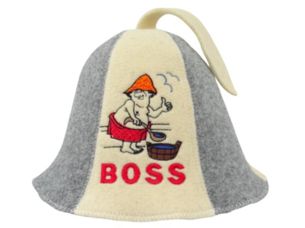 Sauna hat Boss gray beige A011