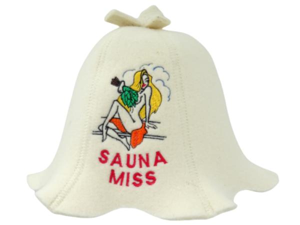 Women's sauna hat Sauna Miss white