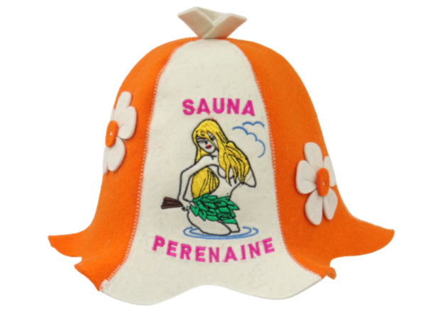 Sauna hat Sauna Perenaine orange beige 1119