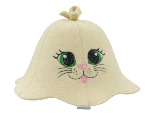 Children's sauna hat Cat