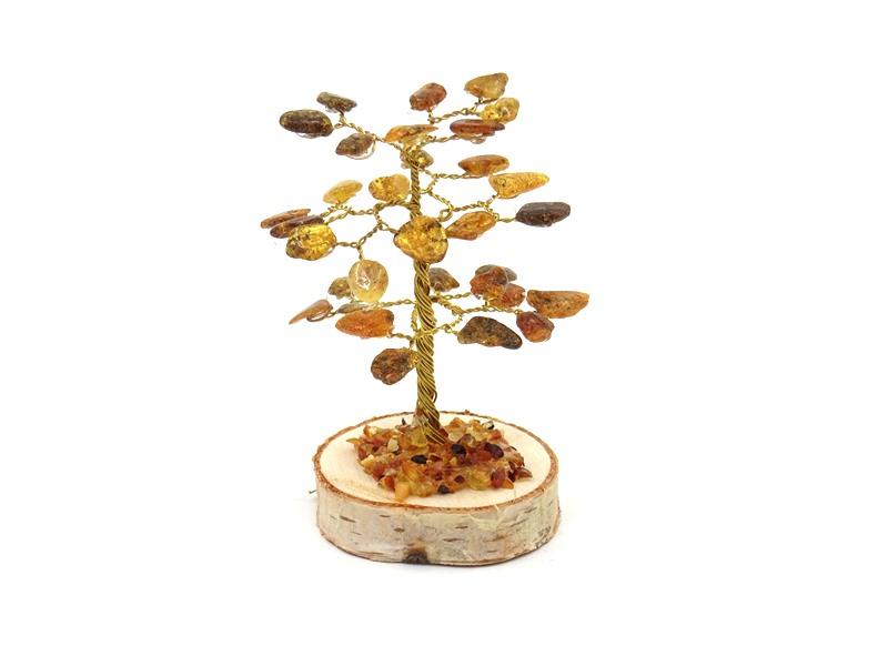 Amber tree 8.5 cm 32 stones 2