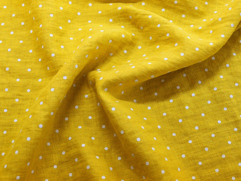 washed linen fabric with mummies