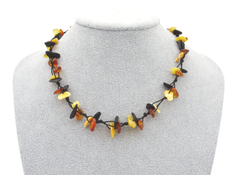Amber necklace 43cm 10g no07
