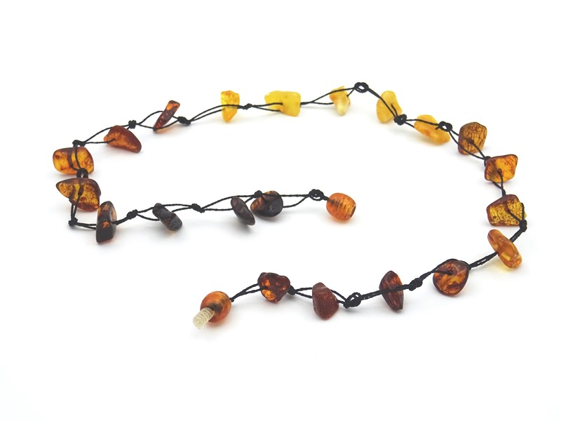 Amber necklace 43cm 5g no05 2