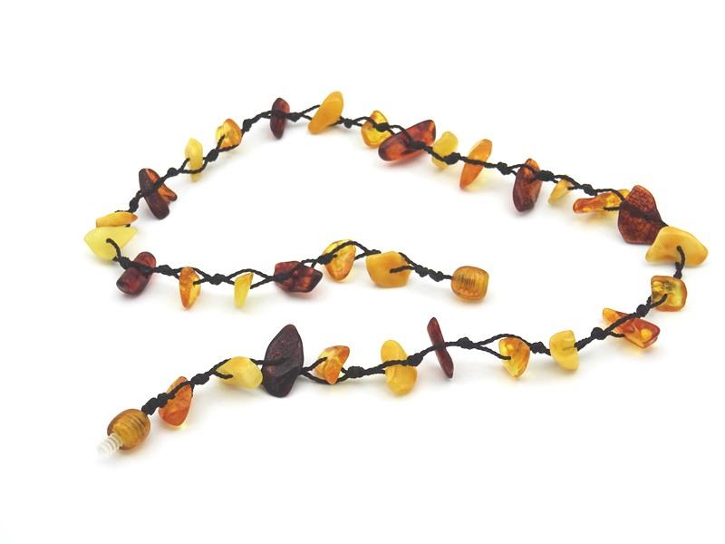 Amber necklace 44cm 7g no06 2