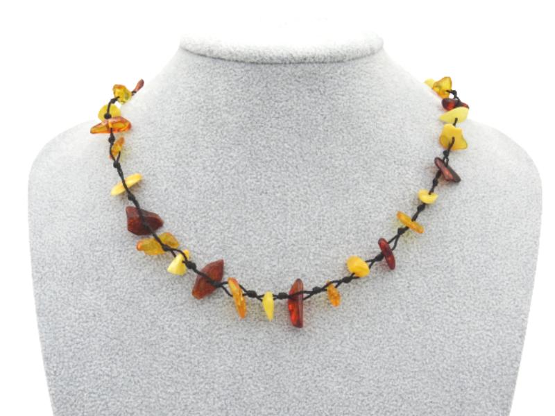 Amber necklace 44cm 7g no06