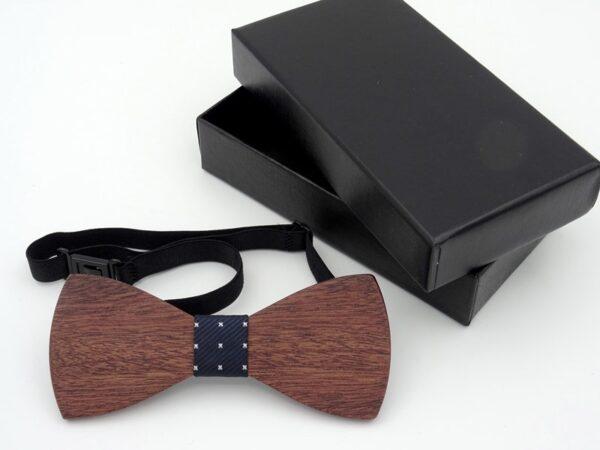 Wooden bow tie for men