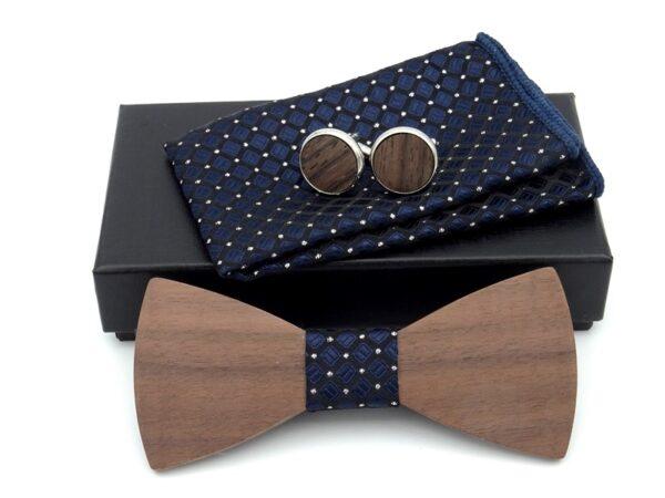 wooden bow tie set