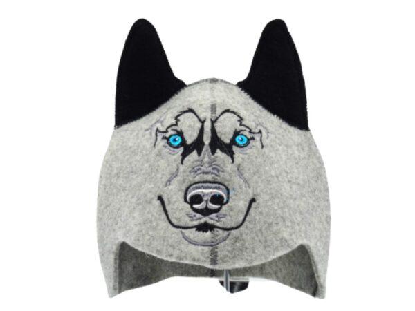 Children's sauna hat Wolf gray 037H