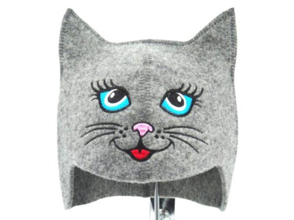 Children's sauna hat Kitty blue eye gray 129H